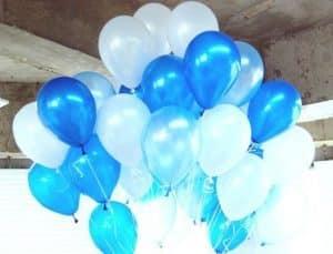 Облако из воздушных гелиевых шаров металлик, перламутр. Гелиевые шары Калининград