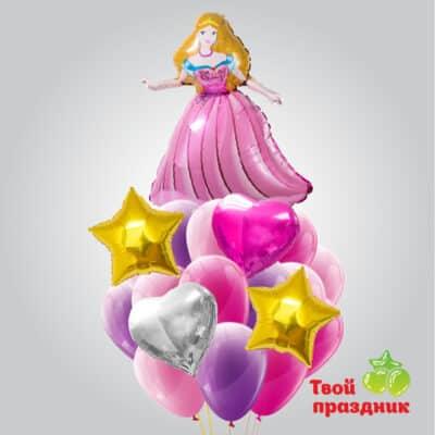 Букет из гелиевых воздушных шаров «Маленькая принцесса»