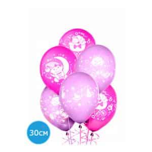 Облако или связка из воздушных шаров на выписку из роддома