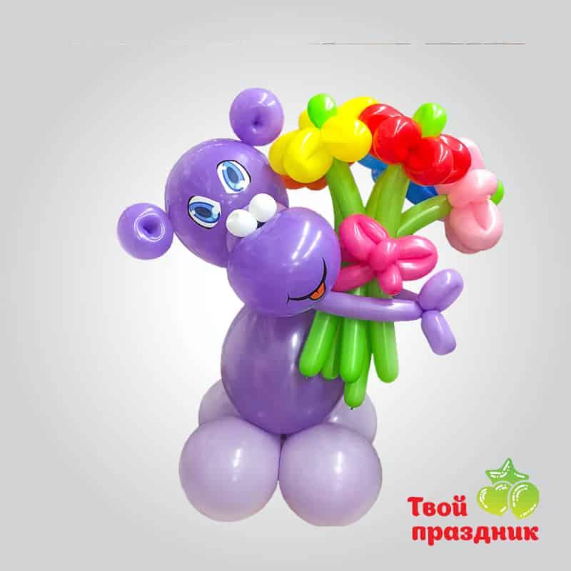 Бегемотик - фигурка из шаров. Твой праздник, Калининград