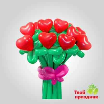 Букет сердечек из шариков, Твой праздник, Калининград