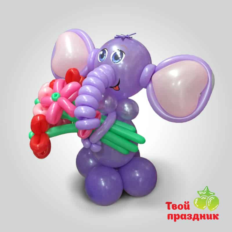 Слоник - фигурка из шаров. Твой праздник, Калининград