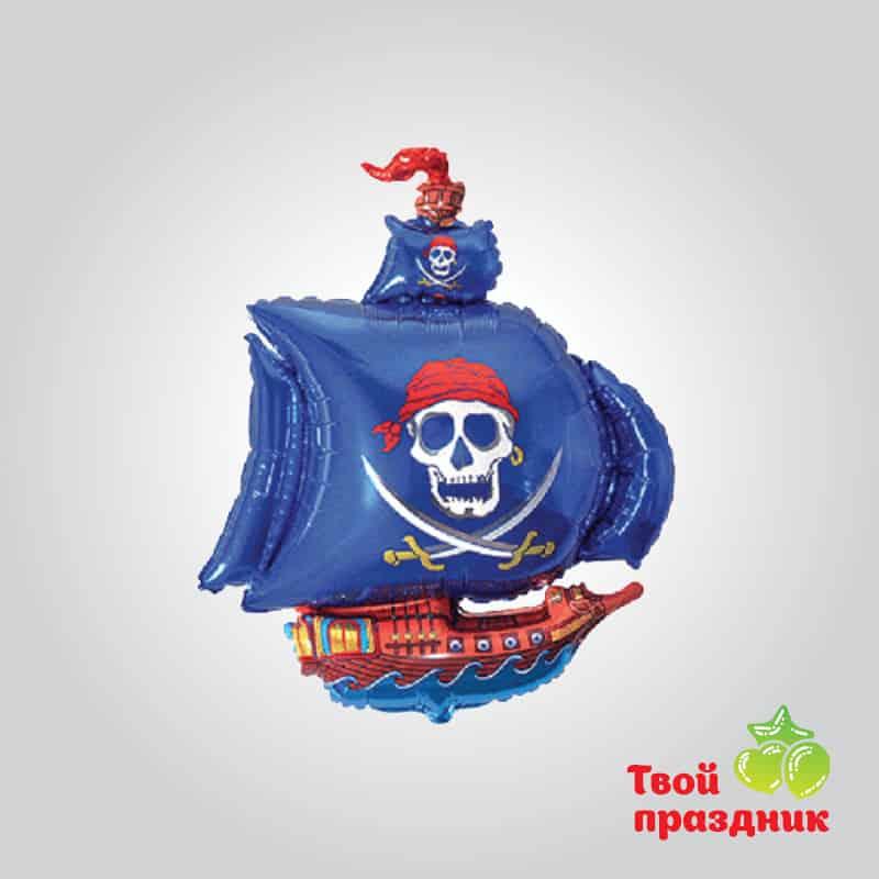 Пиратский корабль - фольгированный шар фигура