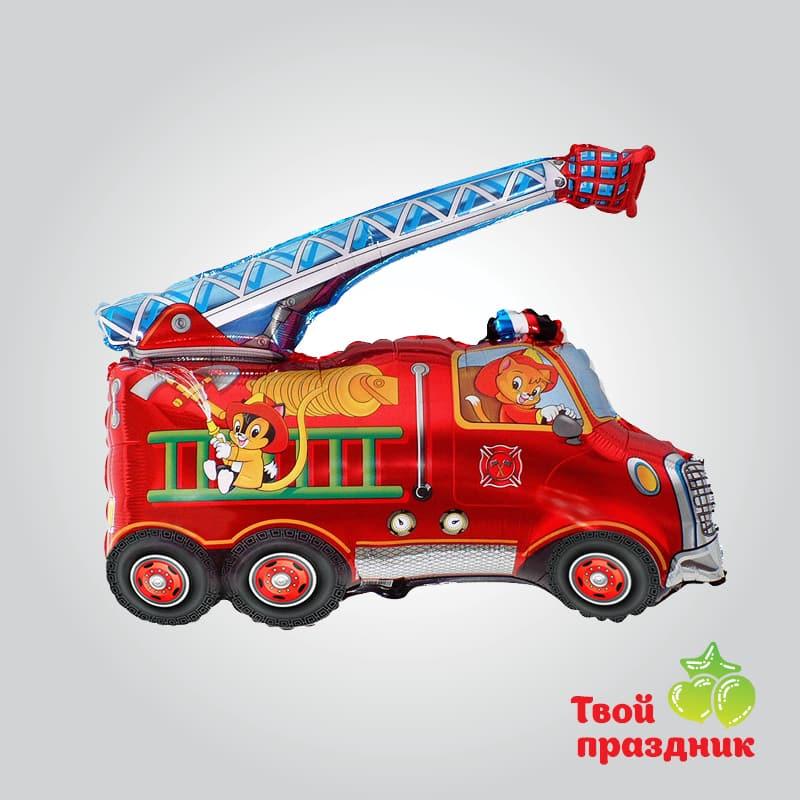 Пожарная машина - фольгированный шар фигура
