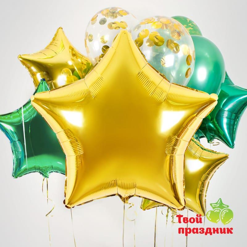 Набор воздушных гелиевых шаров «Золотая награда»