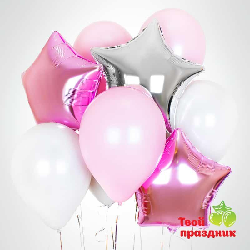 Набор воздушных гелиевых шаров «Ласковый март»