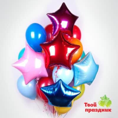 Букет из гелиевых воздушных шаров «Цвет счастья»