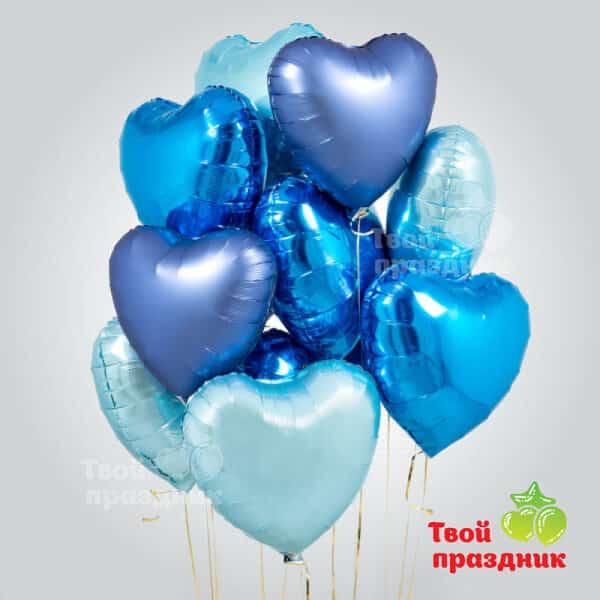 Бархатное небо - набор фольгированных шаров сердец