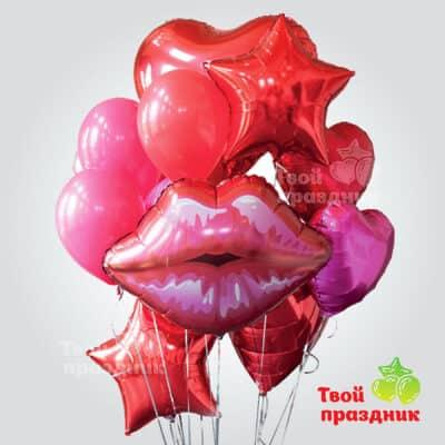Набор воздушных шаров Страстный поцелуй, Твой праздник, Калининград