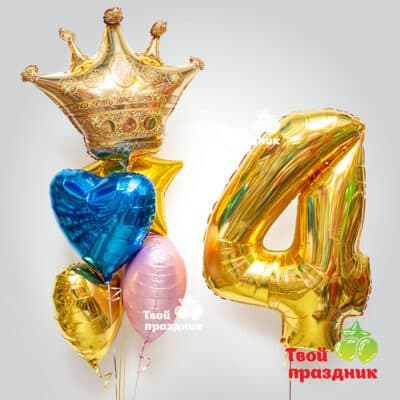 """Набор гелиевых фольгированных шаров """"Юная принцесса"""", """"Твой праздник"""", Калининград. Доставка 24/7"""